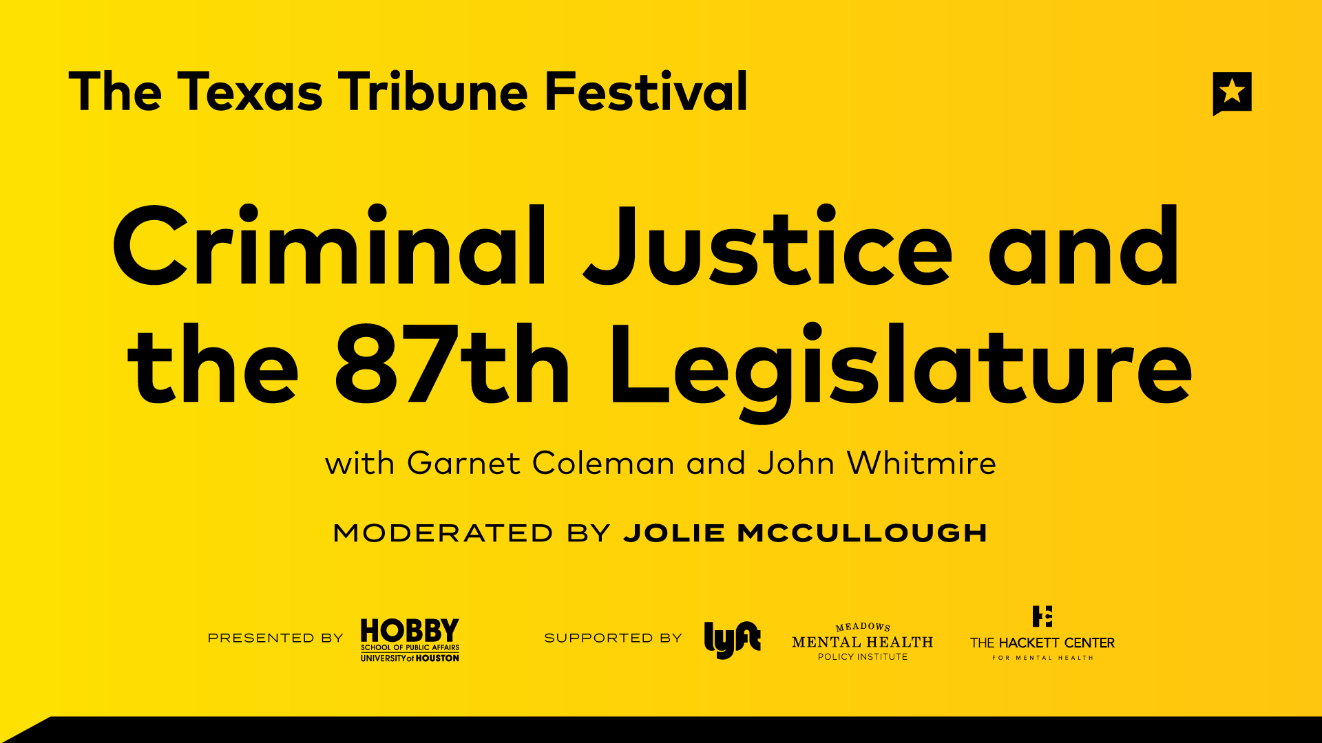 Criminal Justice and the 87th Legislature