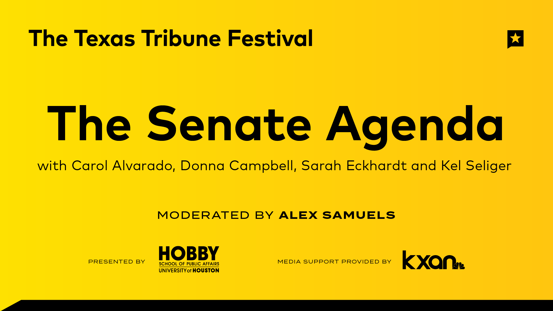 The Senate Agenda