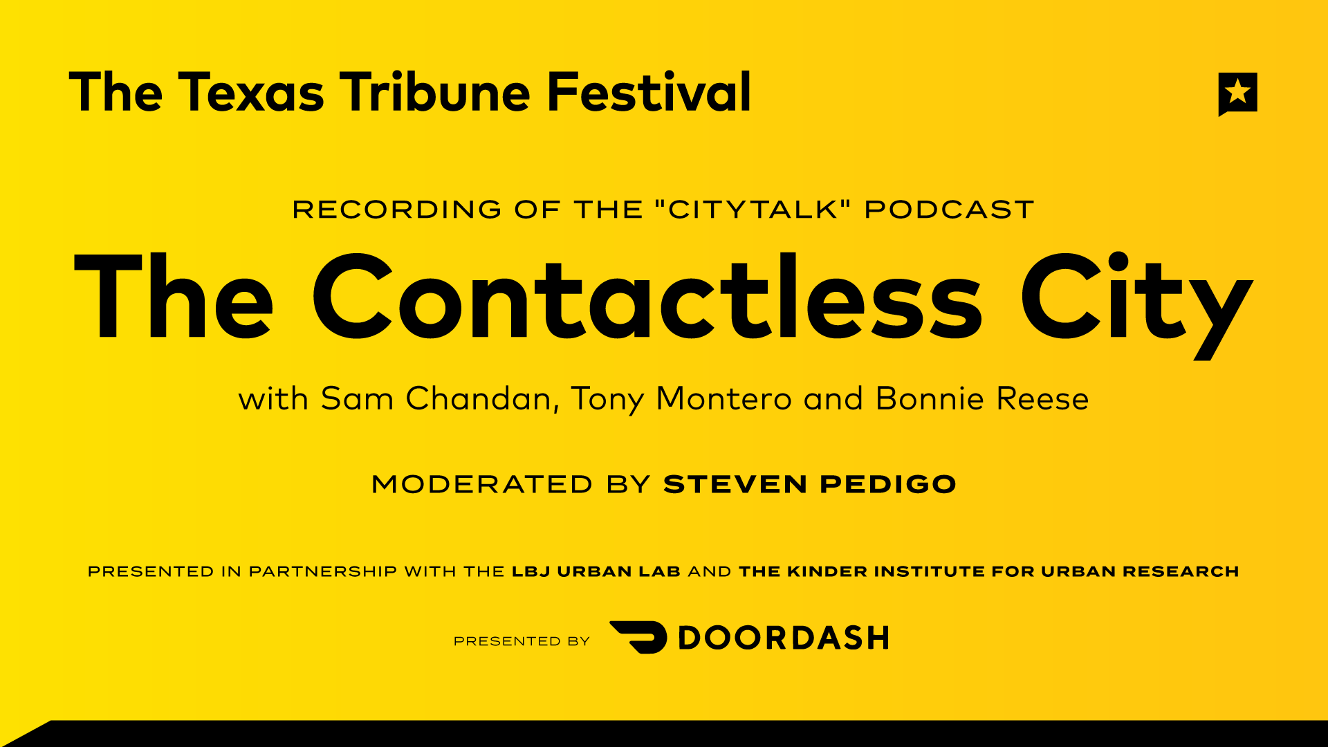 "Recording of the ""CityTalk"" Podcast: The Contactless City"