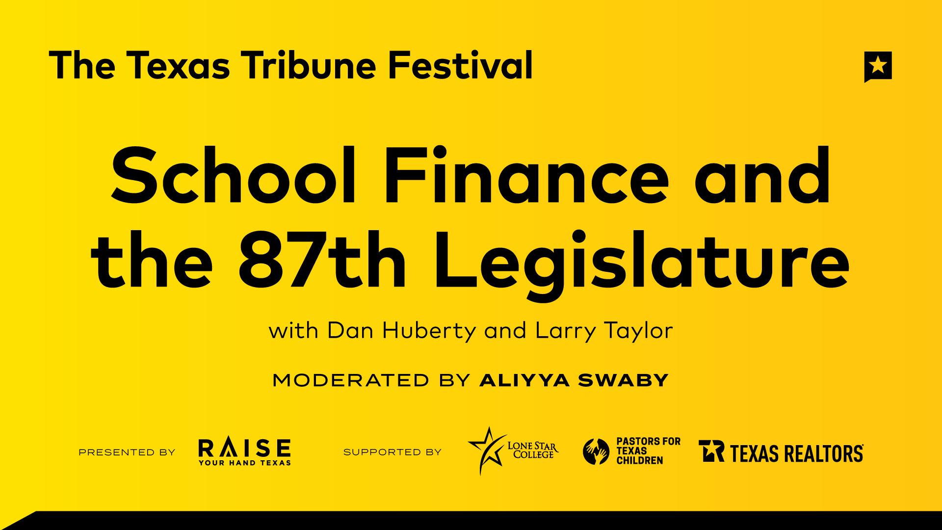 School Finance and the 87th Legislature
