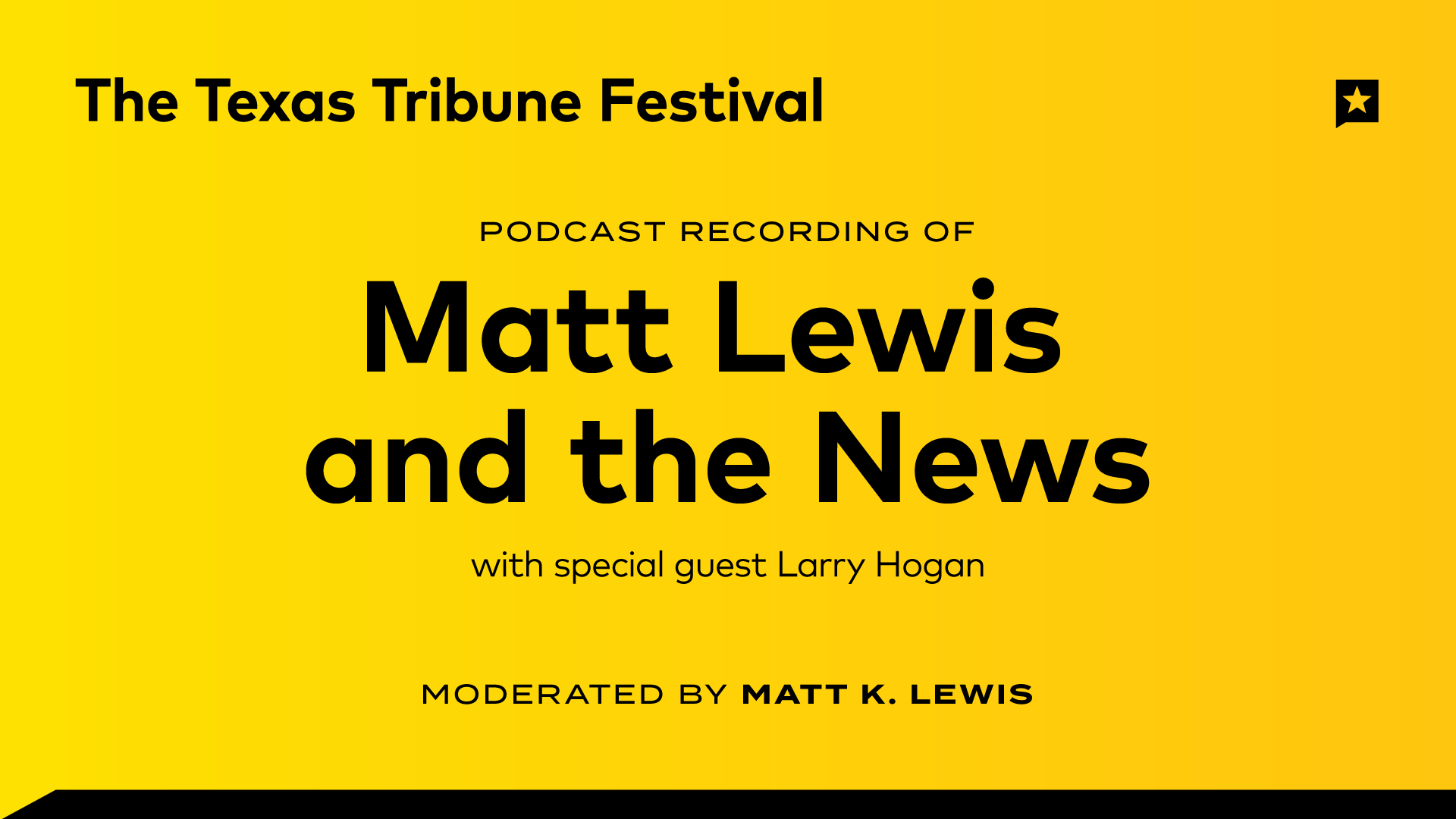 """Recording of the """"Matt Lewis and the News"""" Podcast"""