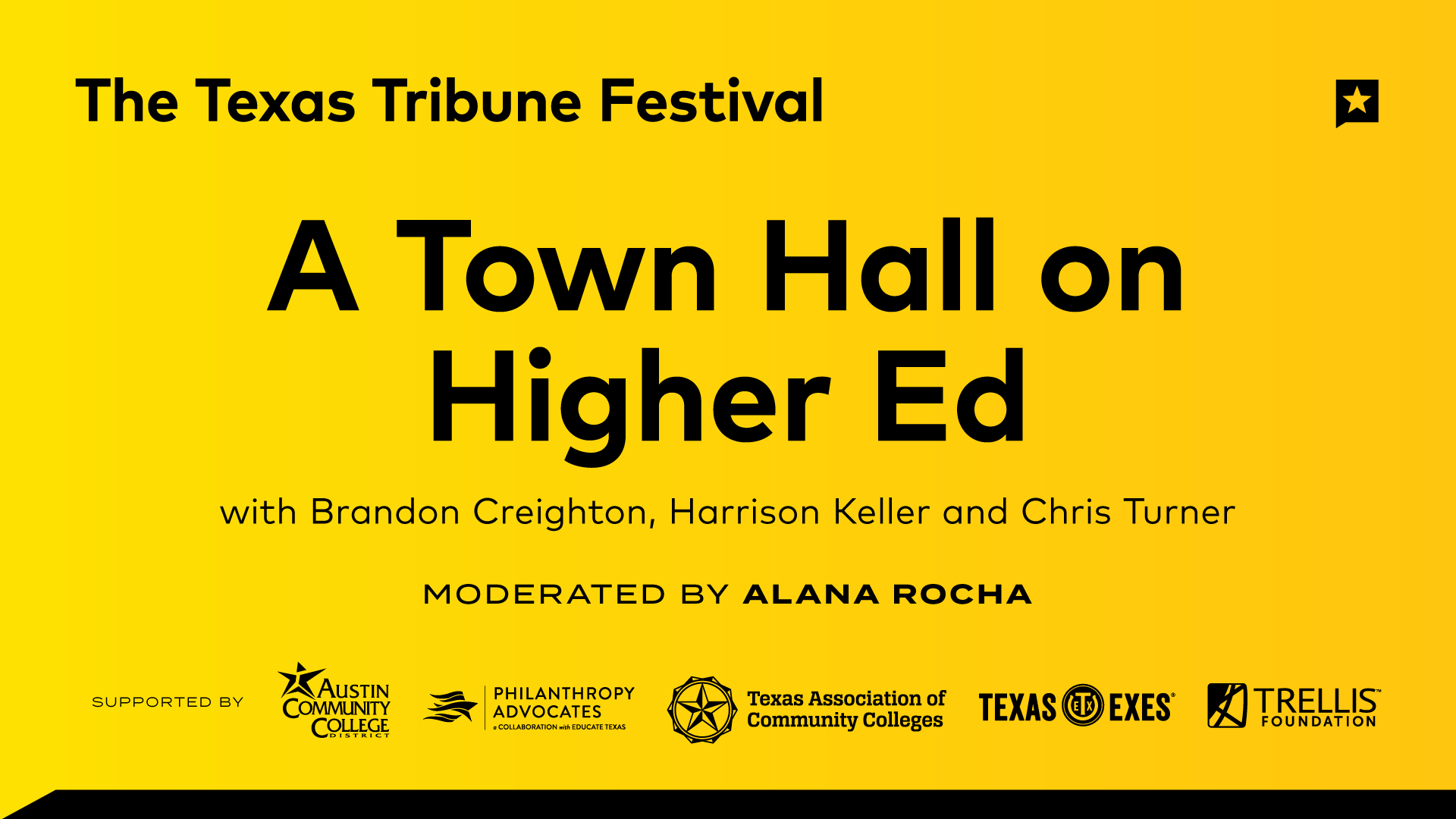 A Town Hall on Higher Ed