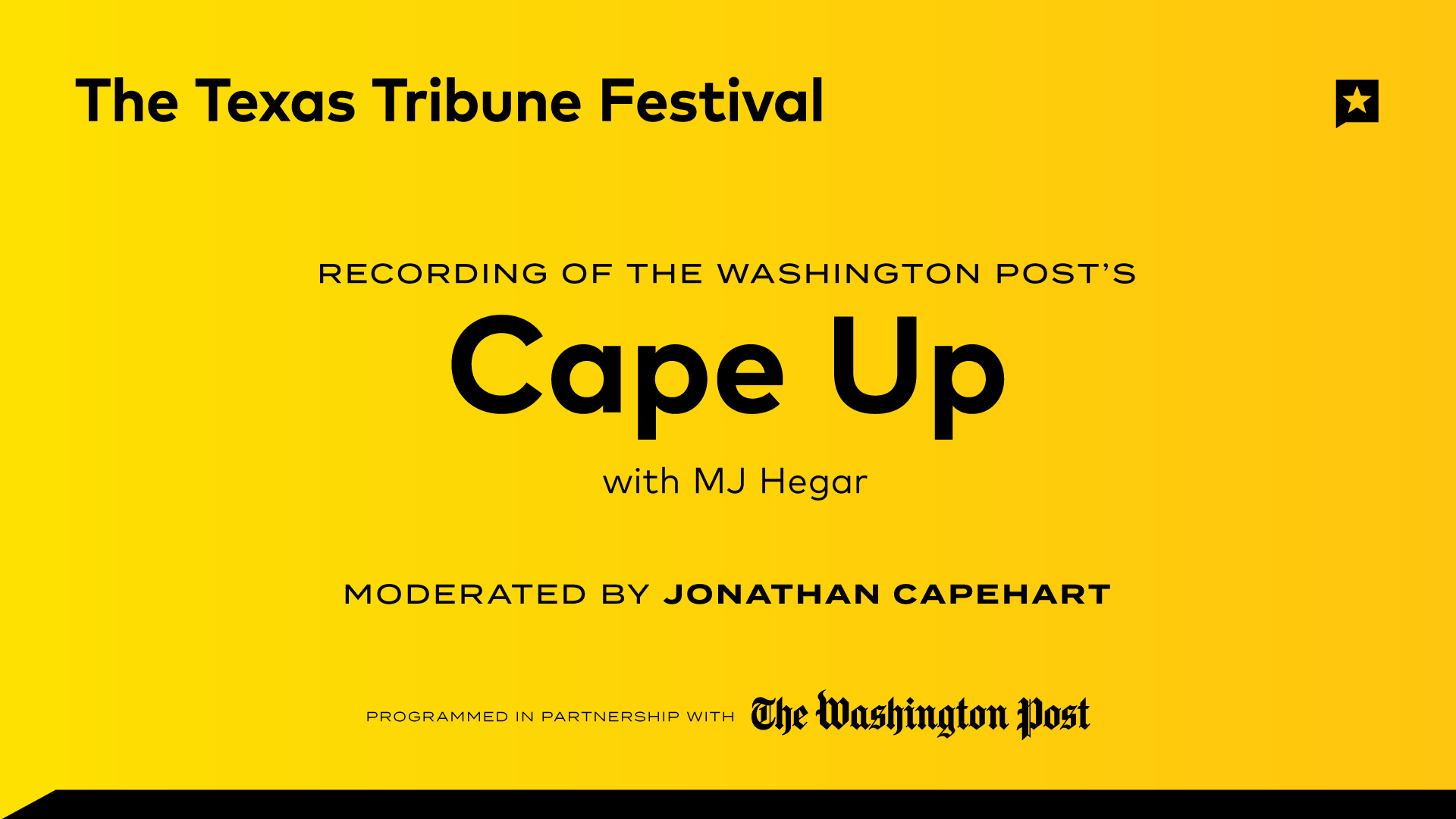 "Live Recording of The Washington Post's ""Cape Up"" Podcast"