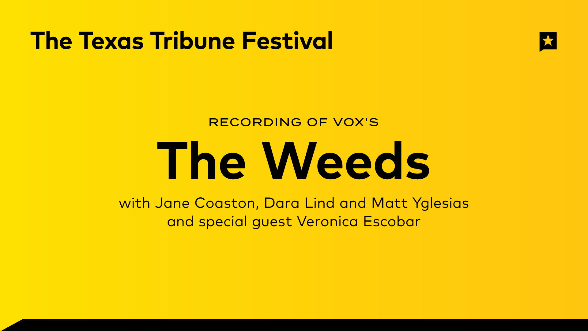 "Recording of Vox's ""The Weeds"" Podcast"