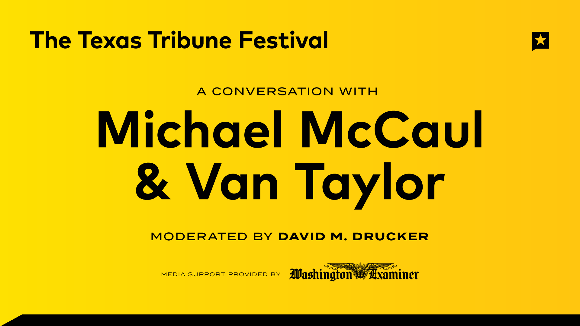 A Conversation with Michael McCaul and Van Taylor